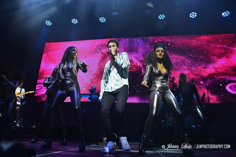 Sebastian Yatra And Manuel Turizo In Concert at James L. Knight Center