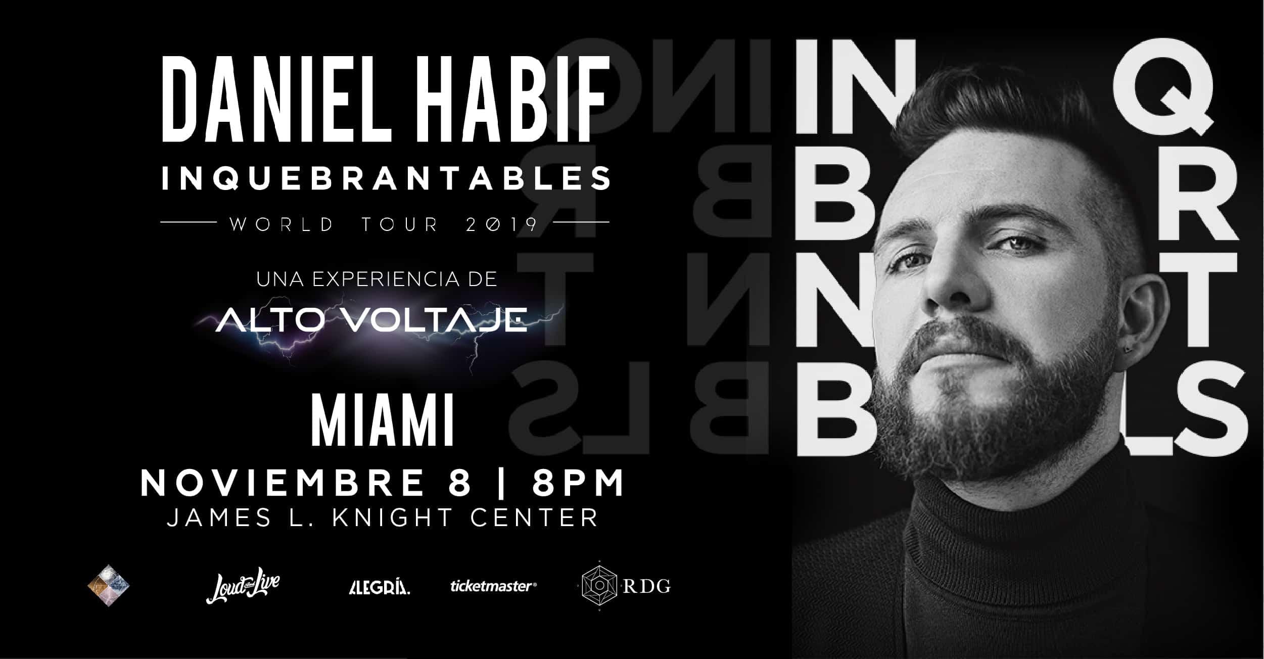 POSTER ALTOVOLT Miami Cover - Daniel Habif: Inquebrantables World Tour 2019