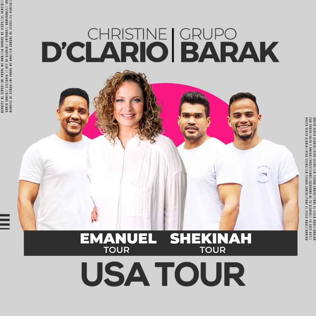 Christine D'Clario y Grupo Barak presentan Emanuel y Shekinah USA Tour