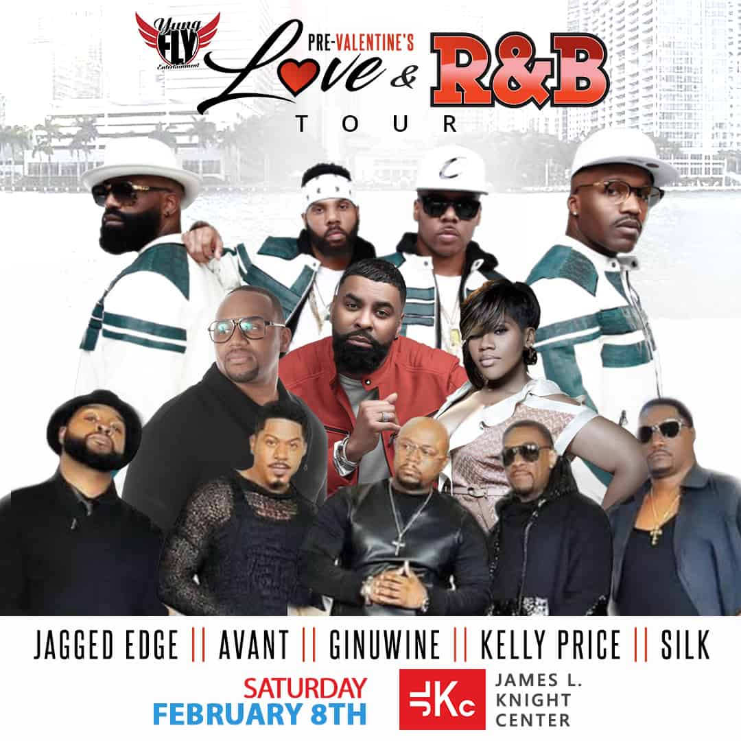 On sale Announcement for PreValentines Day Love R&B Tour