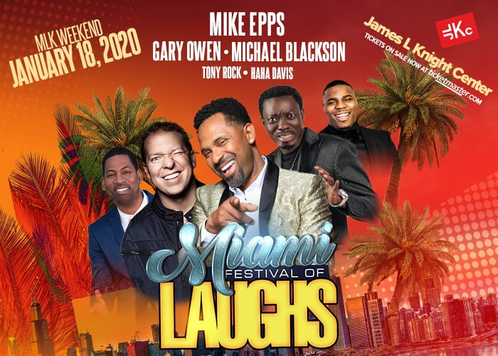 Miami Festival of Laughs James L. Knight Center 700 x 500 JLKC Website 1 - Home Page 1