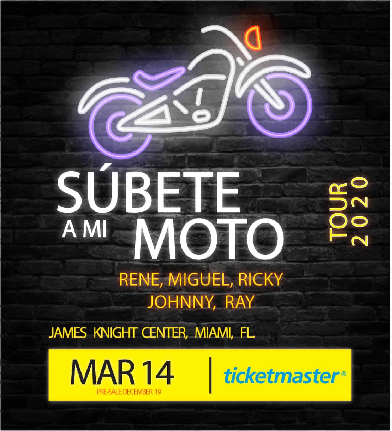 Menudo 2020 Tour Miami at James L. Knight Center March 14