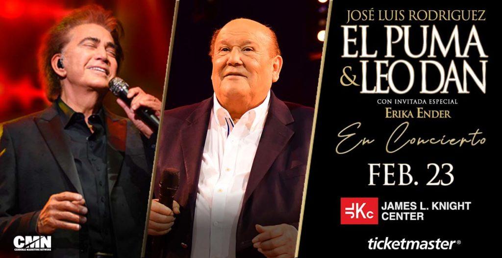 EL PUMA, LEO DAN, Y ERIKA ENDER EN CONCIERTO EL 23 DE FEBRERO